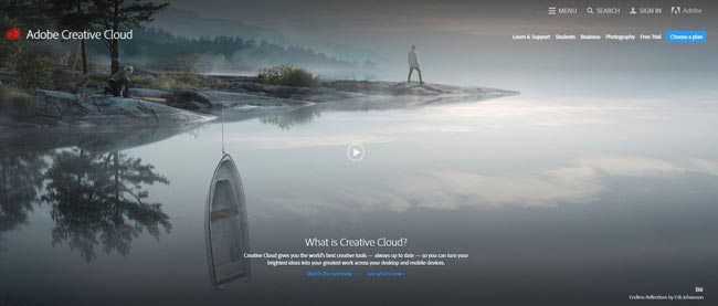 creative cloud of Adobe